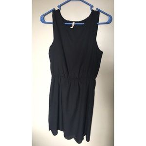 Black dress with cut away back detail